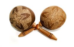 Pair of maracas Royalty Free Stock Photography