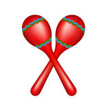 Pair of maracas Royalty Free Stock Images
