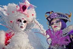 Pair in mask on Venice carnival royalty free stock photo