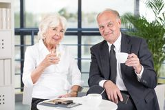 Pair of mature business workers Royalty Free Stock Image