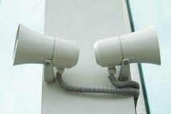 A pair of megaphones Stock Photos
