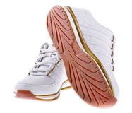 Pair of men's athletic shoes Royalty Free Stock Images