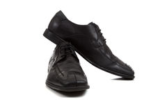 Pair of men's dress shoes on white Royalty Free Stock Photo