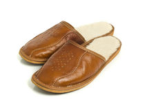 Pair of men's house slippers Royalty Free Stock Photo