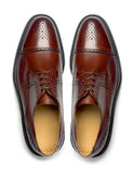 Pair of men's shoes royalty free stock photos