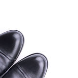 A pair of men's shoes top view. Isolated Stock Images