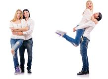 The pair of man and woman Royalty Free Stock Images
