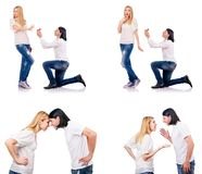 The pair of man and woman Royalty Free Stock Image