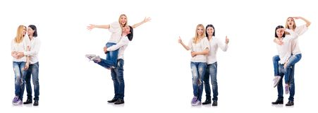 The pair of man and woman Stock Photos