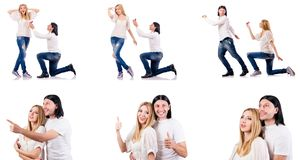 The pair of man and woman Royalty Free Stock Photography