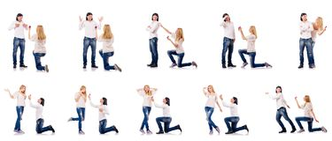 The pair of man and woman Stock Photography