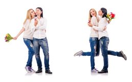 The pair of man and woman Royalty Free Stock Photo