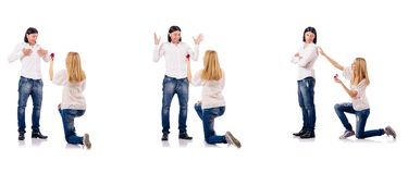 The pair of man and woman Royalty Free Stock Photos