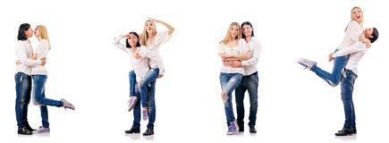 The pair of man and woman Stock Images