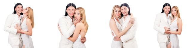 The pair of man and woman in love Royalty Free Stock Photography