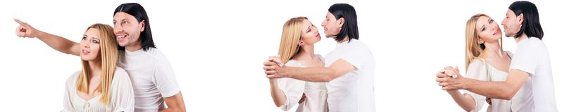 The pair of man and woman in love Stock Photo