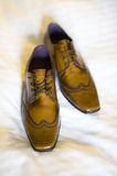 Pair of mens brogue shoes Stock Photo