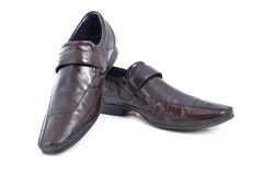 Pair of mens brown shoes Stock Photo
