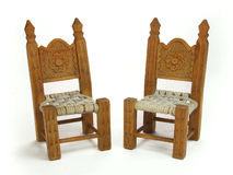 Pair miniature chairs Royalty Free Stock Photos