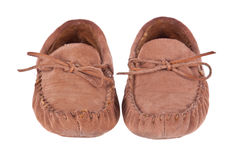 Pair of moccasin slippers Royalty Free Stock Photography