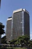 Pair of Modern Buildings in Sao Paulo Royalty Free Stock Photos