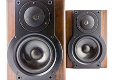 Pair of modern music speakers Stock Photography
