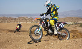 A Pair of Motocross Racers Practice at SARA Park Royalty Free Stock Image