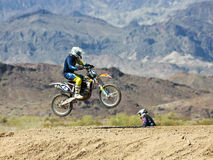 A Pair of Motocross Racers Practice at SARA Park Royalty Free Stock Images