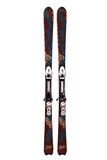 Pair of mountain skis. On a white background stock images