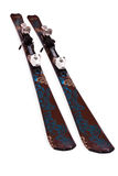 Pair of mountain skis Royalty Free Stock Images