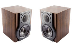 Pair of music speakers Stock Photo