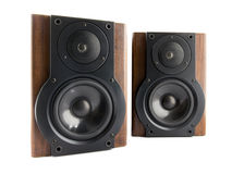 Pair of music speakers Royalty Free Stock Photo