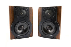 Pair of music speakers Stock Photography