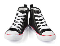 Black sport shoes Royalty Free Stock Image