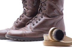 Brush boots Stock Image