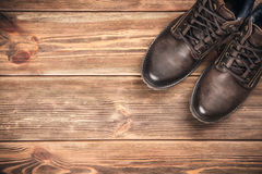 Pair of new boots Stock Photography