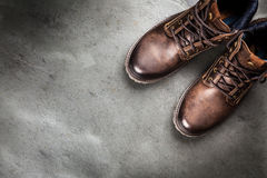 Pair of new boots Stock Images