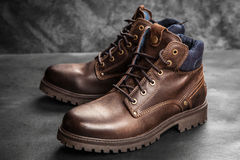 Pair of new boots Royalty Free Stock Image