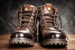 Pair of new boots Stock Photos