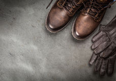Pair of new boots Royalty Free Stock Photography