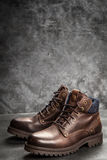 Pair of new boots Royalty Free Stock Photos