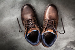 Pair of new boots Royalty Free Stock Photo