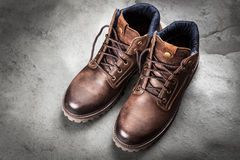 Pair of new boots Royalty Free Stock Images