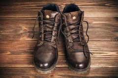 Pair of new boots Stock Image