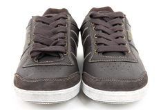 Pair of new leather sneakers Royalty Free Stock Photography