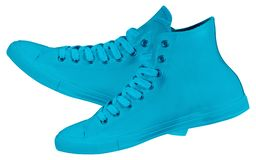 Pair of new sneakers stock photography