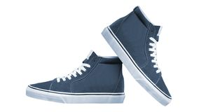 Pair of new sneakers royalty free stock image