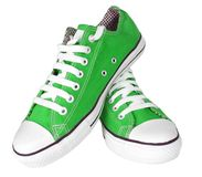 Pair of new sneakers Stock Photo