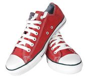 Pair of new sneakers. Isolated royalty free stock photography