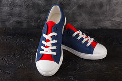 Pair of new sneakers Stock Images